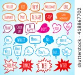 collection of doodle style... | Shutterstock .eps vector #418867702