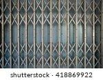 Old Folding Metal Door Gate