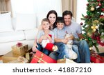 young family having fun with... | Shutterstock . vector #41887210