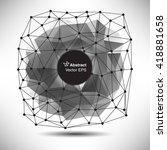 low polygon geometry background.... | Shutterstock .eps vector #418881658