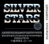 vector set of stylish silver...   Shutterstock .eps vector #418890685