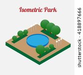 city park furniture. city map... | Shutterstock .eps vector #418897666