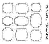 set of simple ornate frames... | Shutterstock .eps vector #418909762