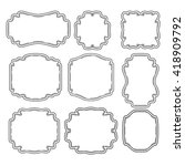 vector set vintage labels and... | Shutterstock .eps vector #418909792