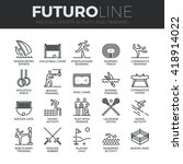 modern thin line icons set of... | Shutterstock .eps vector #418914022