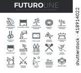 modern thin line icons set of... | Shutterstock .eps vector #418914022