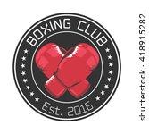 boxing club vector logo  emblem ...   Shutterstock .eps vector #418915282