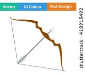 flat design icon of bow and...