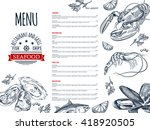 seafood menu design. corporate... | Shutterstock .eps vector #418920505