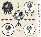 vintage globe ancient symbol...   Shutterstock .eps vector #418932622