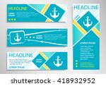anchor icon on vertical and... | Shutterstock .eps vector #418932952