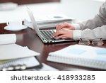 close up of business woman... | Shutterstock . vector #418933285