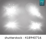 vector transparent sunlight... | Shutterstock .eps vector #418940716