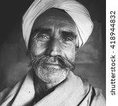 indigenous senior indian man... | Shutterstock . vector #418944832