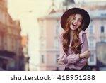outdoor portrait of young... | Shutterstock . vector #418951288