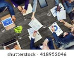 office busy meeting colleagues... | Shutterstock . vector #418953046