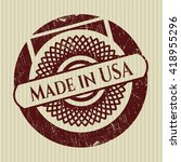made in usa rubber seal | Shutterstock .eps vector #418955296