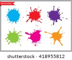 colorful paint splatters.paint... | Shutterstock .eps vector #418955812