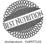 best nutrition draw  pencil... | Shutterstock .eps vector #418957132