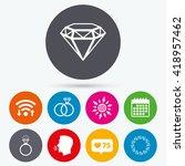 wifi  like counter and calendar ... | Shutterstock .eps vector #418957462