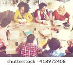 diverse group people working... | Shutterstock . vector #418972408