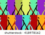 abstract sketch of silhouettes...   Shutterstock .eps vector #418978162