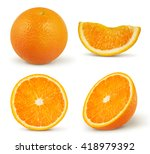 orange isolated on white... | Shutterstock . vector #418979392