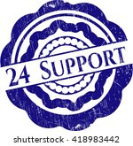 24 support rubber grunge stamp | Shutterstock .eps vector #418983442