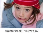close up portrait of young girl ... | Shutterstock . vector #41899516