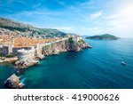 panorama of old town of...   Shutterstock . vector #419000626