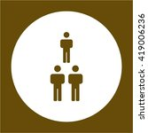 people  icon   isolated. flat ... | Shutterstock .eps vector #419006236