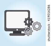 digital marketing design.... | Shutterstock .eps vector #419016286