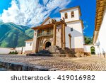 the baroque church dedicated to ... | Shutterstock . vector #419016982