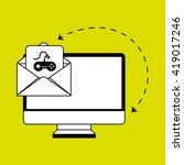 computer technology design | Shutterstock .eps vector #419017246