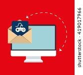 computer technology design | Shutterstock .eps vector #419017966