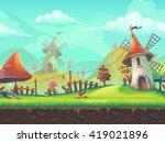 seamless cartoon stylized... | Shutterstock .eps vector #419021896