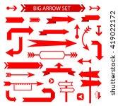 arrow collection  flat design | Shutterstock .eps vector #419022172