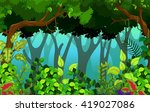 tropical forest background | Shutterstock .eps vector #419027086