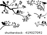 collection of tree silhouette... | Shutterstock .eps vector #419027092