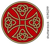 symbolic celtic cross with... | Shutterstock .eps vector #4190299