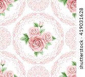 vintage seamless pattern with... | Shutterstock . vector #419031628