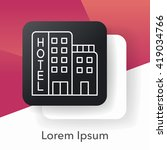 hotel line icon | Shutterstock .eps vector #419034766