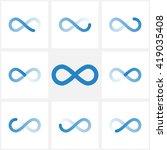 blue line infinity shape...