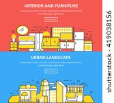 interior and furniture urban... | Shutterstock .eps vector #419038156