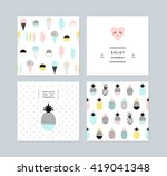 set of creative trendy art... | Shutterstock .eps vector #419041348