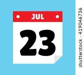 calendar icon flat july 23