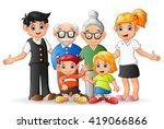 happy cartoon family | Shutterstock . vector #419066866