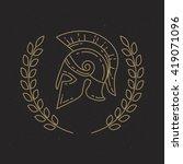 helmet spartan  legionnaire ... | Shutterstock .eps vector #419071096