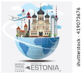 republic of estonia landmark... | Shutterstock .eps vector #419073676
