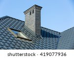 Roof Of A Detached House With ...